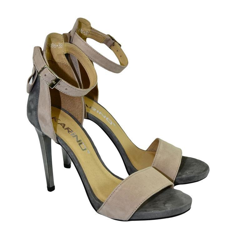 Dámske sivo-béžové sandále RAILI  1ec8d034e84