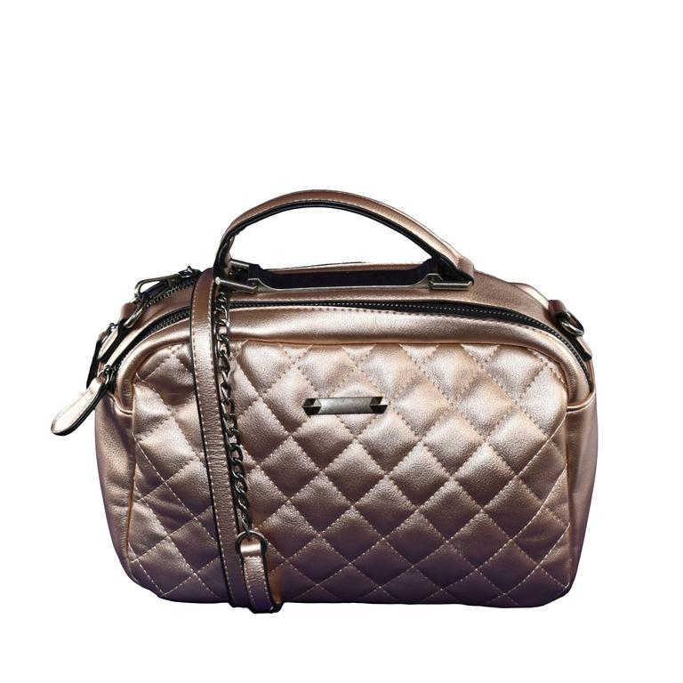 Dámska ružovo-zlatá kabelka DREIS c3d9e65b816