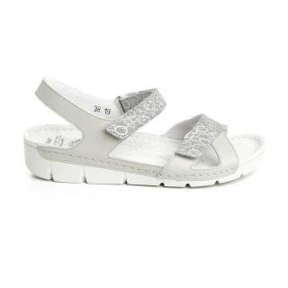 d1eb5e870766f Dámske kožené sivé sandále TOLEDO