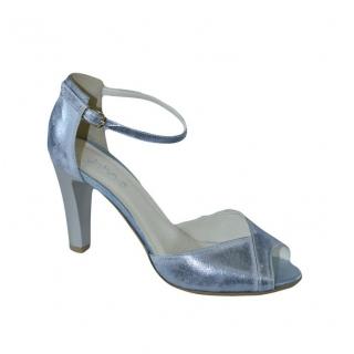 a0e0894c015f Dámske kožené modré sandále SINNI