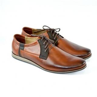 Pánske kožené hnedé topánky IVEN ec86e79fc11