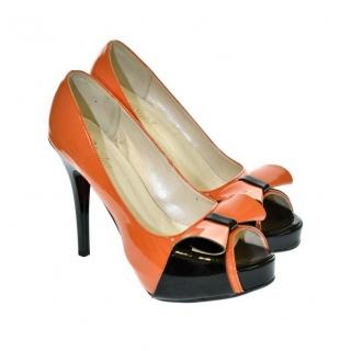 d032ff4d871a Dámske oranžovo-čierne lodičky PELIA
