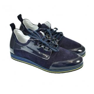 Pánske kožené tmavo-modré tenisky STEN 9d5debcac5e