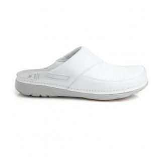 594427fe29ae Pánske biele zdravotné šľapky PETER - 1