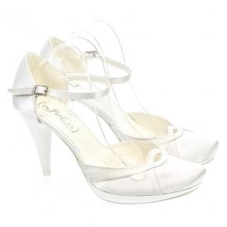 ad39d10382bd Dámske biele sandále EVONY
