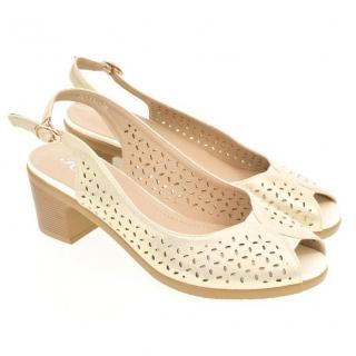 abee3e3dae92 Dámske biele sandále SONA