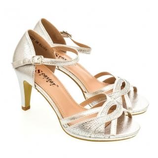 595c04edc354 Dámske strieborné sandále LIMMA