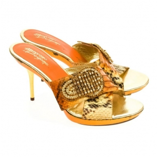 a2011644c9f5 Dámske oranžové sandále LILIA