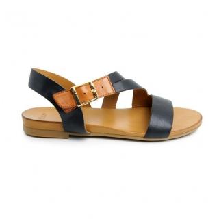 ee05f9e8c Dámske kožené čierne sandále FRESH 52