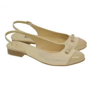 63855640acb39 Dámske béžovo-zlaté sandále EVELINE