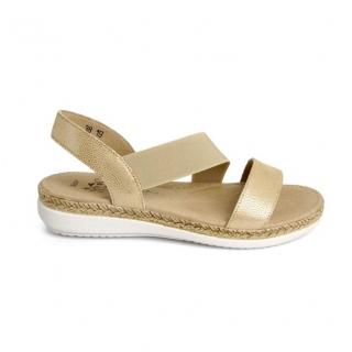 97658363f5 Dámske kožené béžové sandále GIGI