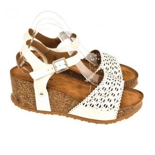 03c7515cb3ee Dámske biele sandále SHARI