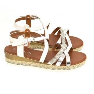 e51b157839ec Dámske biele sandále BRUS