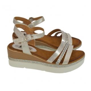 c1b0f587a7 Dámske bielo-strieborné sandále RELLA