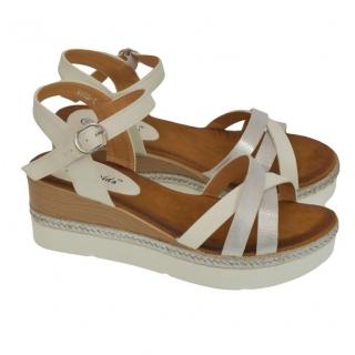 fbc3ff4ff13a Dámske biele sandále RILLA