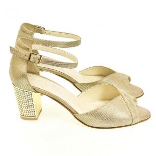 b339dea32efd Dámske zlaté sandále ENNI