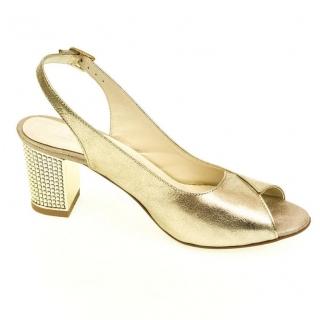 6d9eaa6d2d67 Dámske zlaté sandále JOLANA