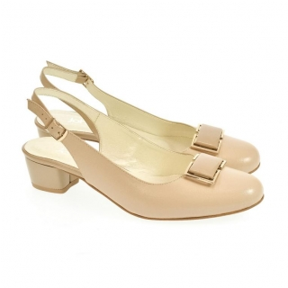25a05aa9ad Dámske kožené béžové sandále MILA