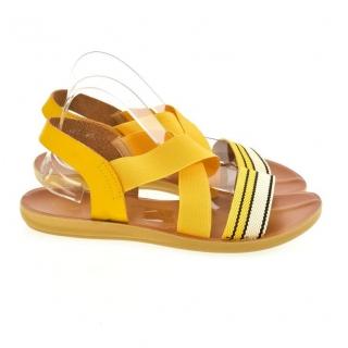 a2688fe7e60f4 Dámske žlté sandále TALY