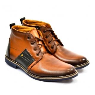 Pánske kožené zimné topánky TRISTAN bf85687f22d