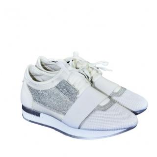 929fc3ea2db4a Dámske bielo-strieborné botasky BRIEN