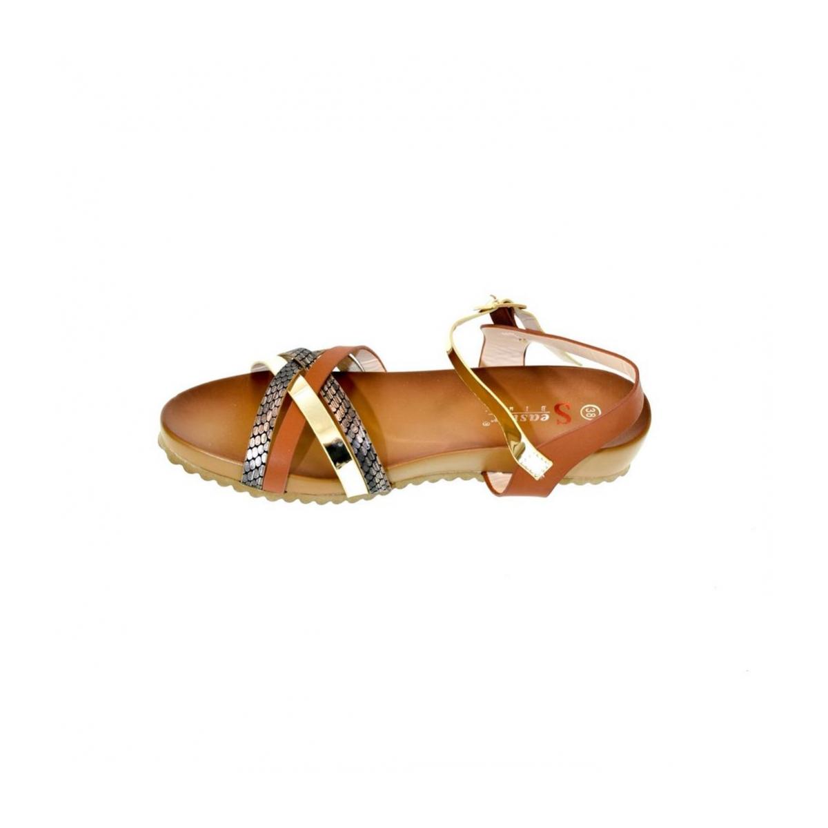 e5a1a92d98 Dámske hnedé sandále VEGGA - 4