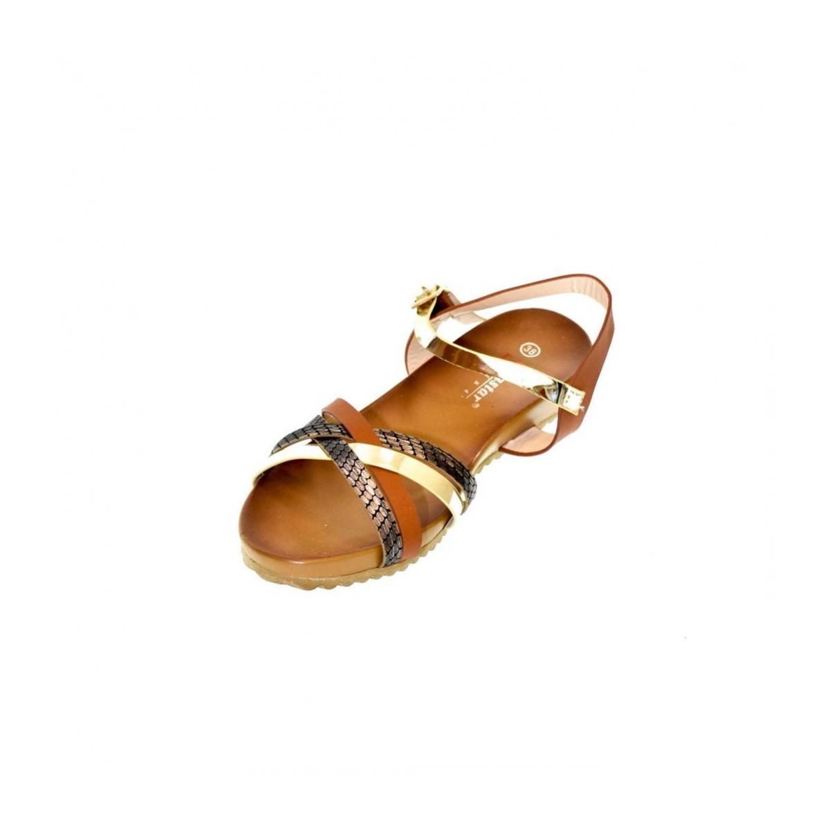 f7f86aad8817 Dámske hnedé sandále VEGGA - 5