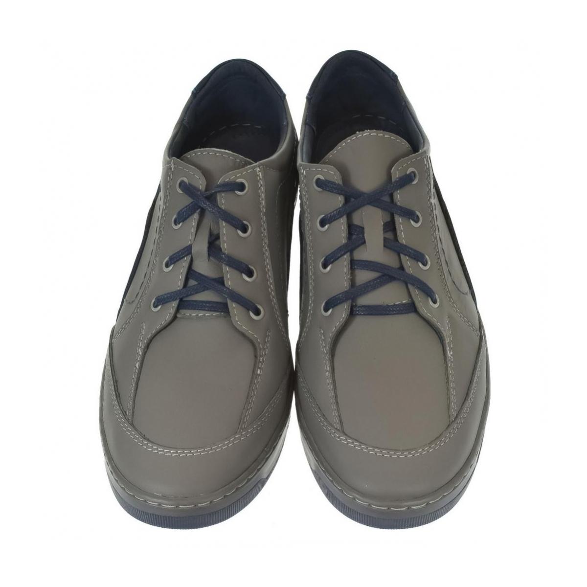 Pánske kožené sivé topánky ROY - 4 cadb536ad3e
