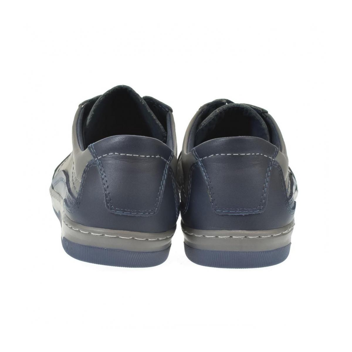 Pánske kožené sivé topánky ROY - 5 0d8c7823a9a
