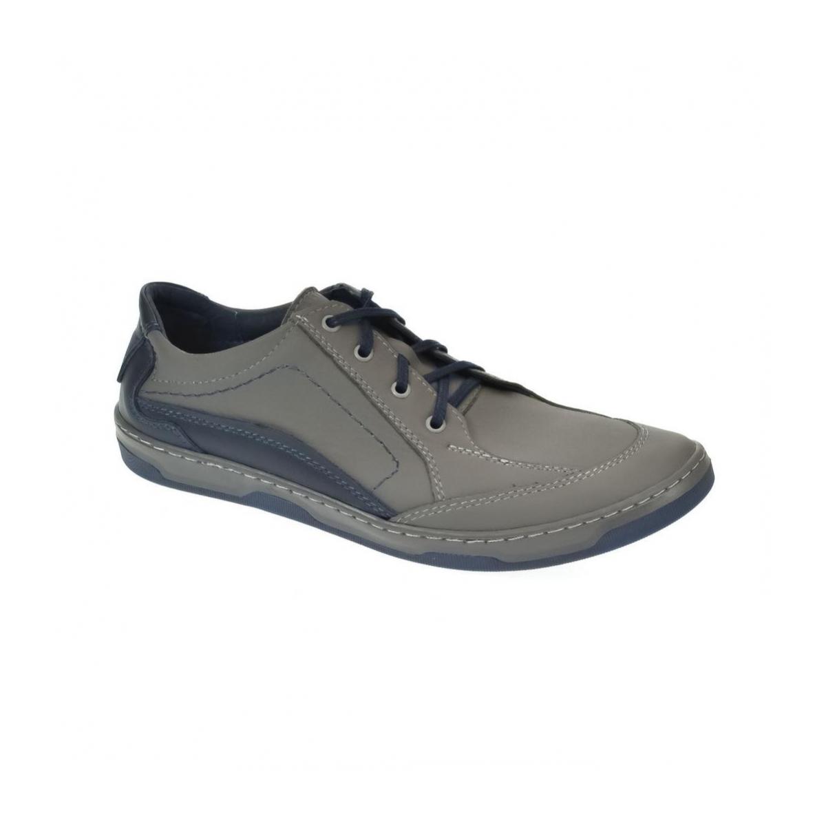 Pánske kožené sivé topánky ROY - 6 ae355e096b8