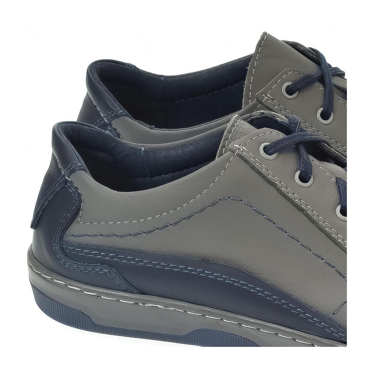Pánske kožené sivé topánky ROY - 2 3d909365ff6