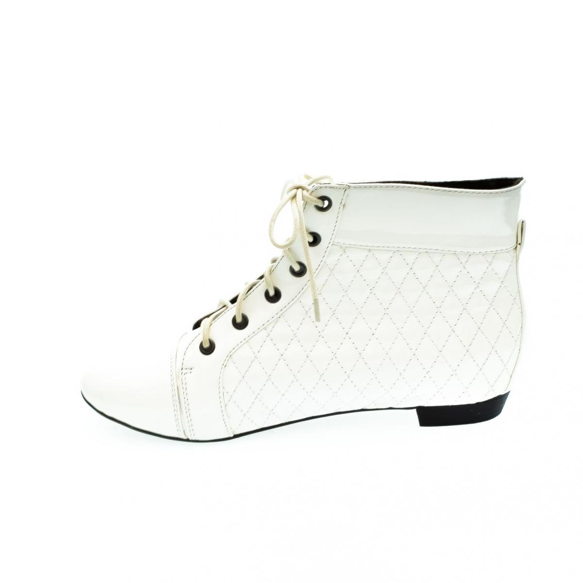 Dámske biele členkové topánky KORNELIA - 4 dda2cb11baf