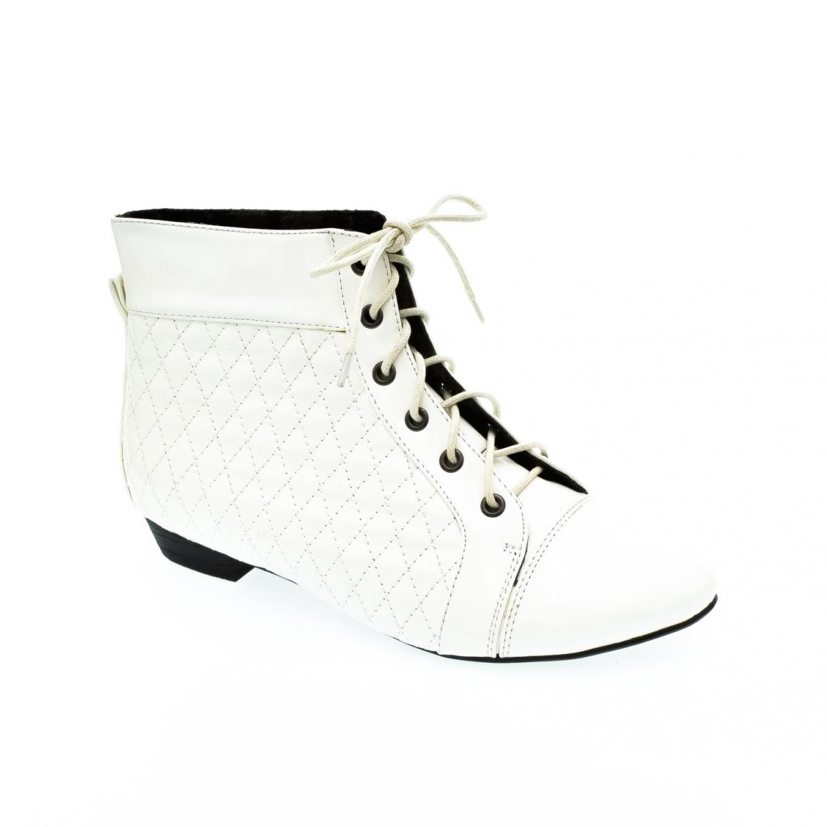Dámske biele členkové topánky KORNELIA - 2 8318ba510ce