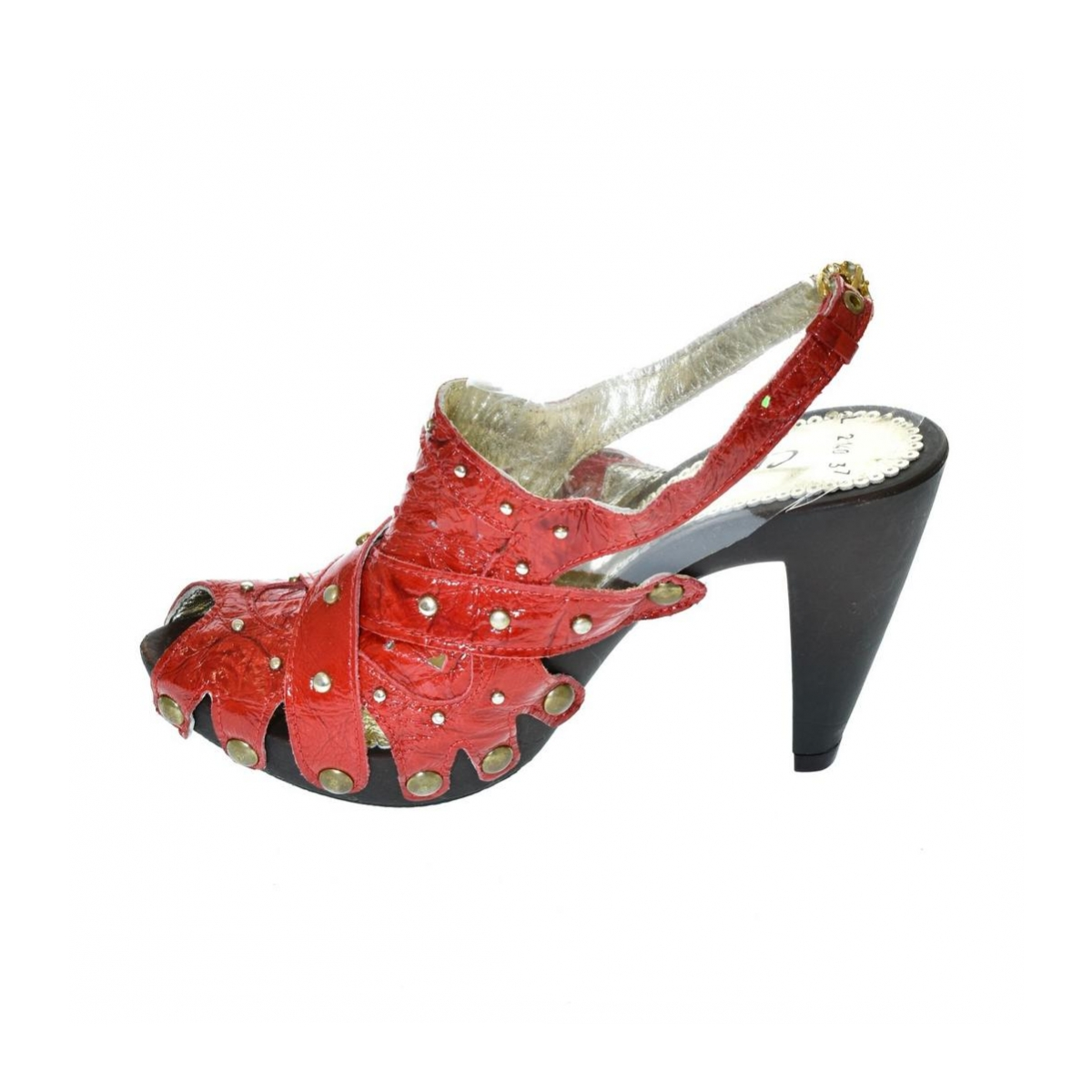 9d72fe5278bf Dámske červené sandále RESS - 4