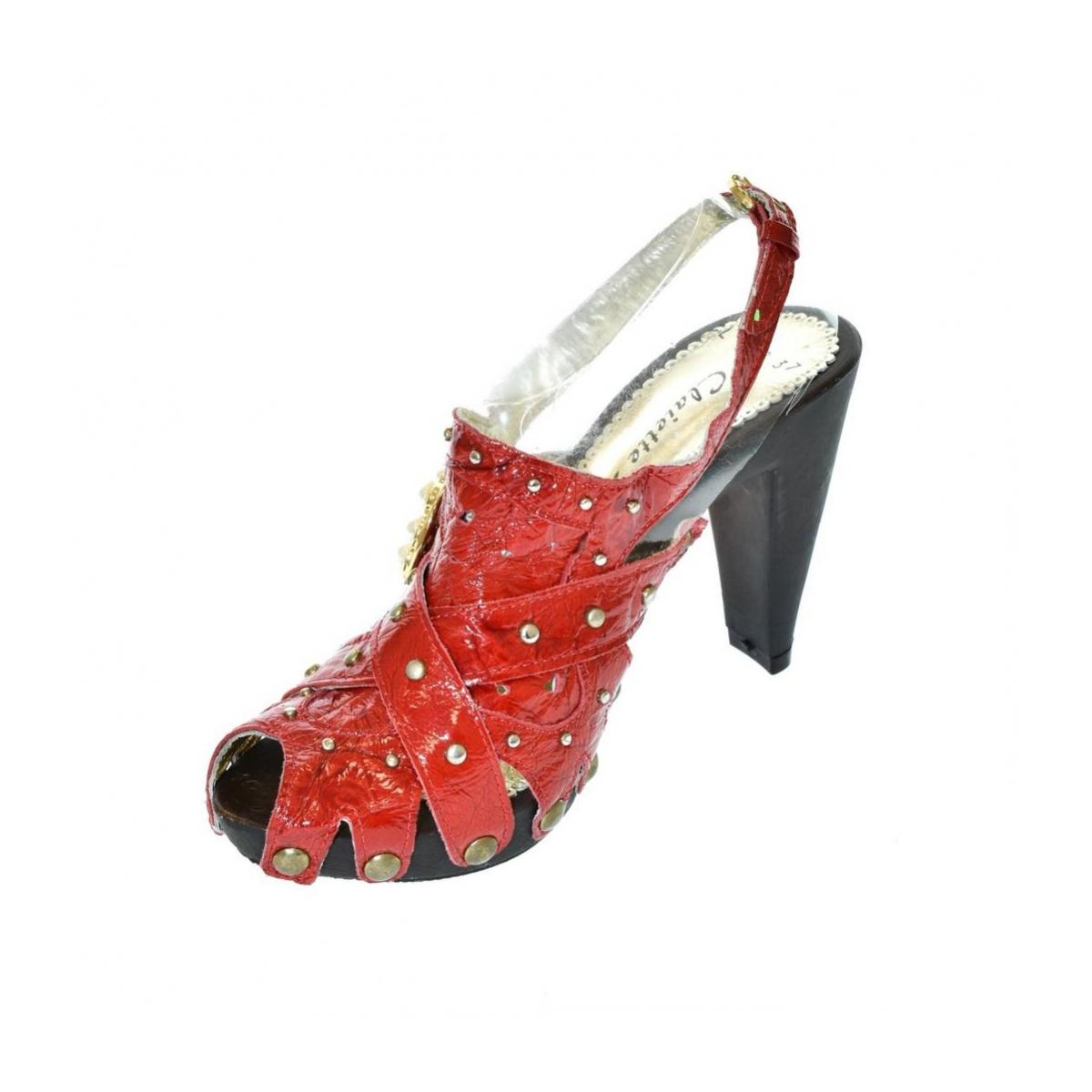 8e4c78aad0d6 Dámske červené sandále RESS - 5