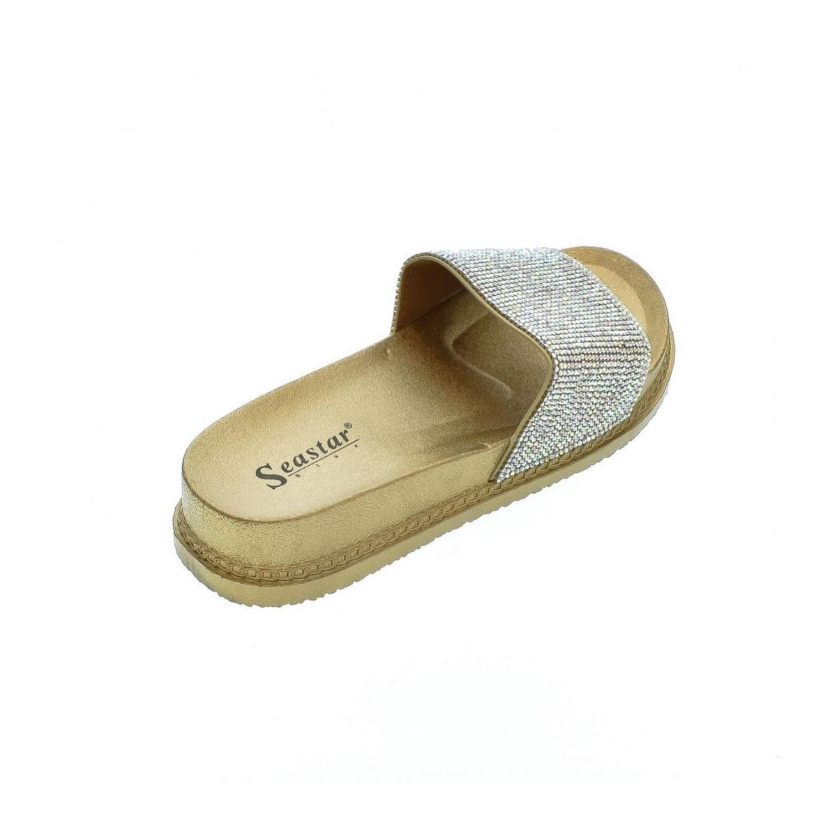 Dámske zlaté šľapky DANEA - 3 acebd1555c1