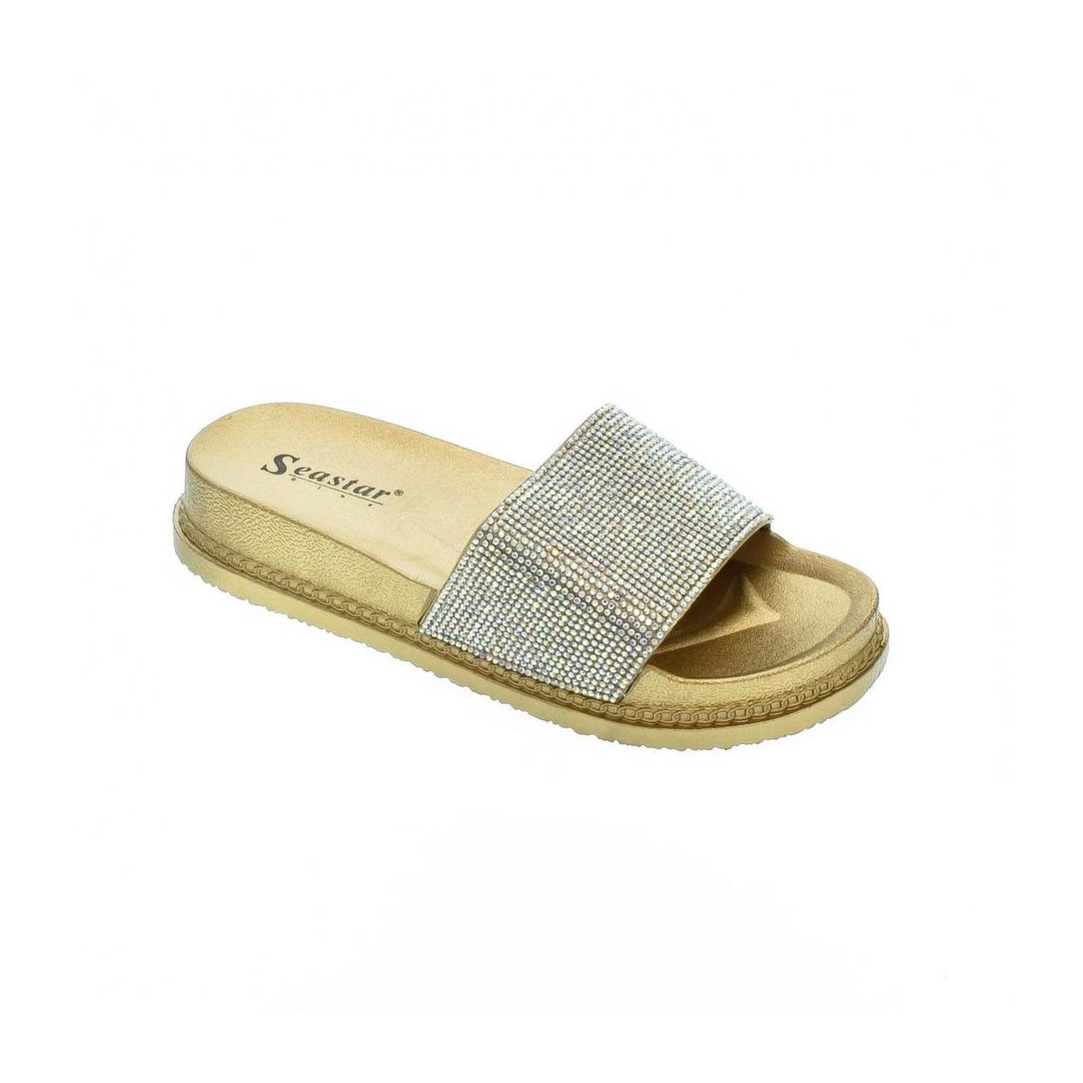 Dámske zlaté šľapky DANEA - 2 9176d03a9a3