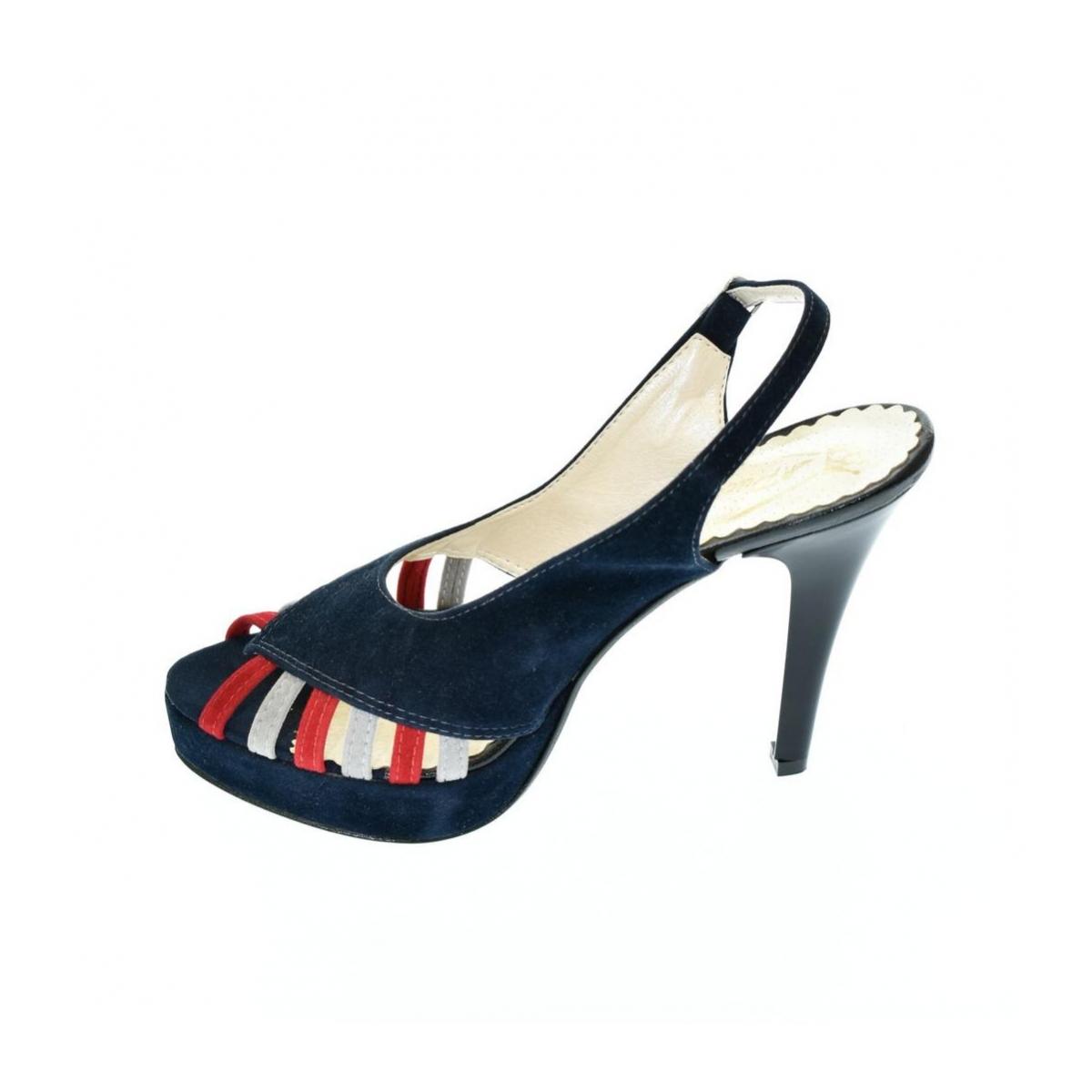 ca2f7b44942e Dámske tmavo-modré sandále LIA - 4