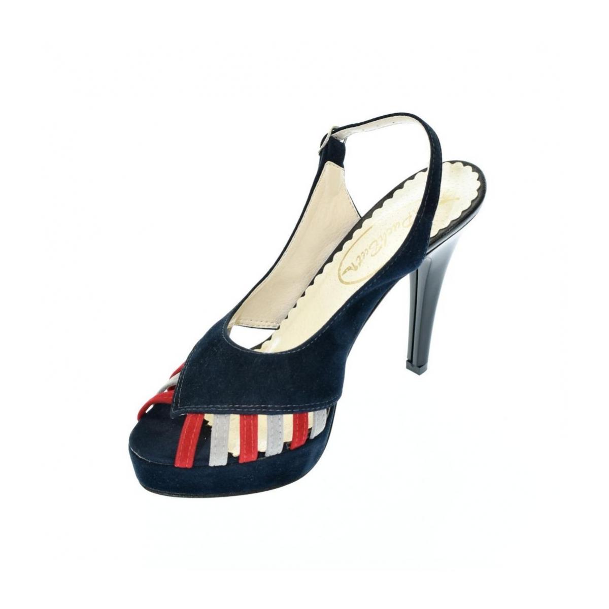 2935cf7f4320 Dámske tmavo-modré sandále LIA - 2