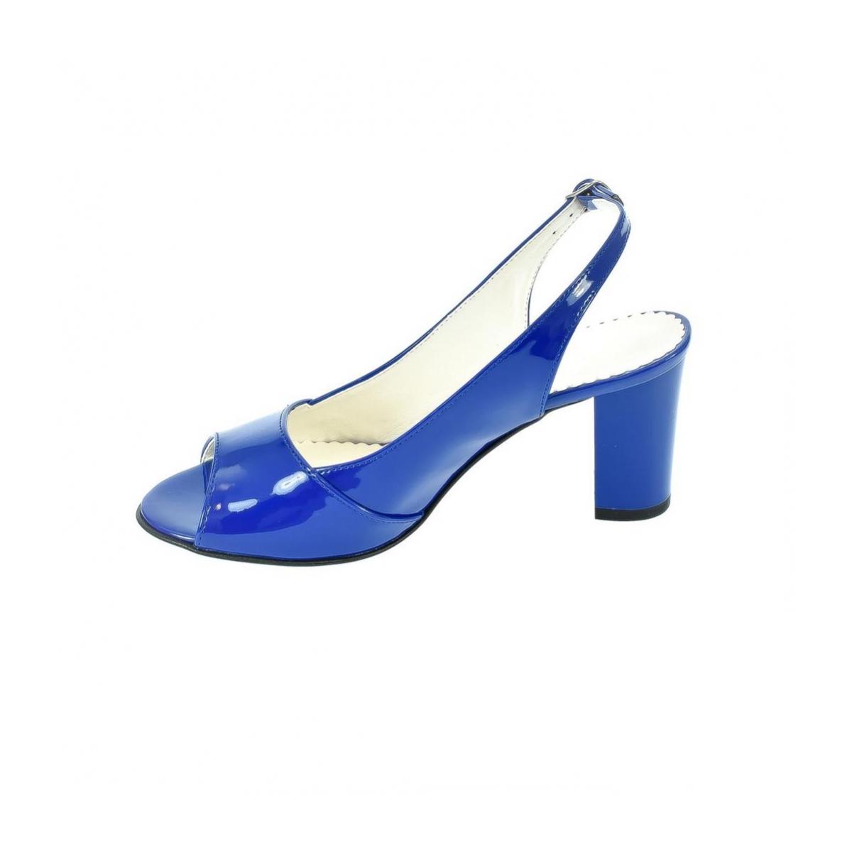 12e5353dc5b8 Dámske modré sandále SAINA - 4