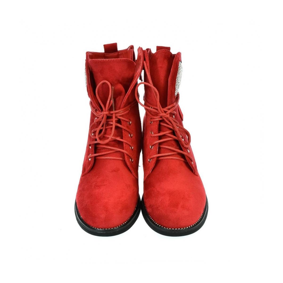 765575d71a Dámske červené poltopánky SPIAT - 4