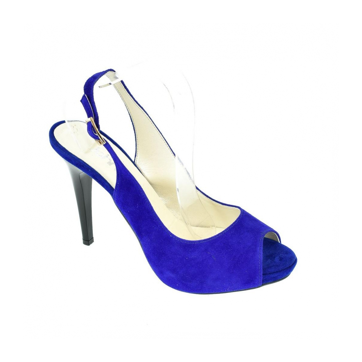 509c4c437d7a Dámske kožené modré sandále SINNI - 3