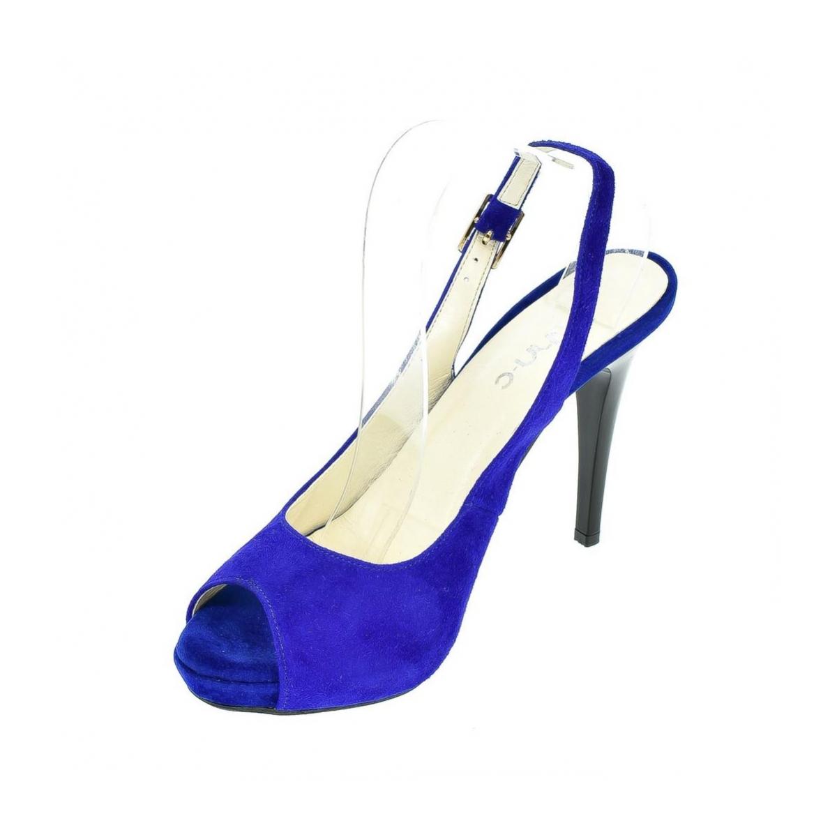 6236feba16ce Dámske kožené modré sandále SINNI - 6