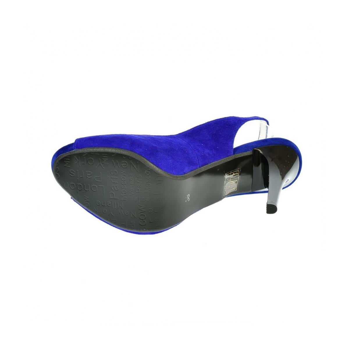 34ec99ba9754 Dámske kožené modré sandále SINNI - 2