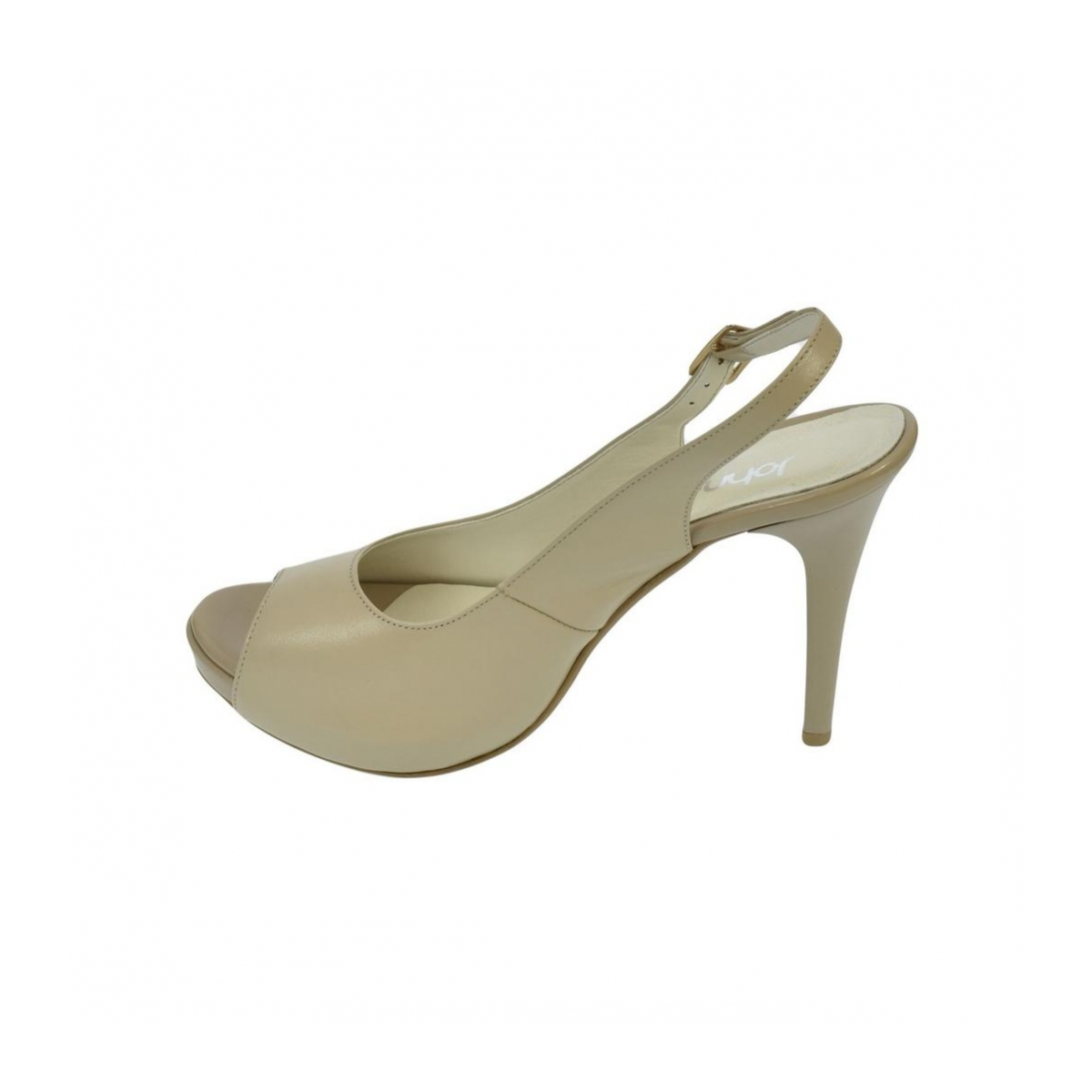 77dfe2f3792a Dámske kožené béžové sandále SINNI - 7
