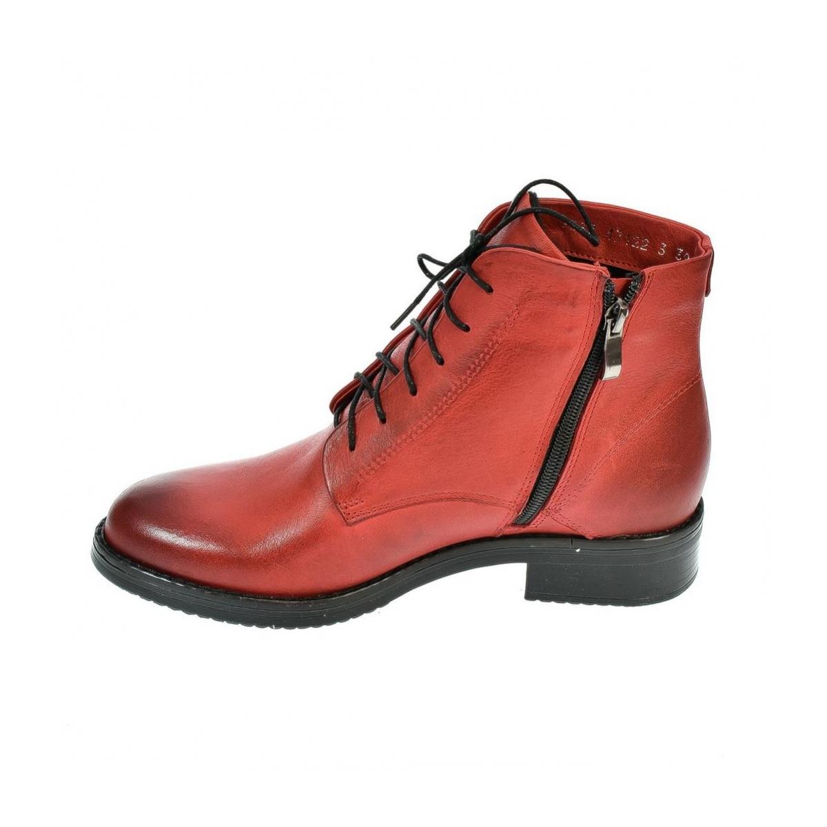 6f0694cc50997 Dámske červené členkové kožené topánky MERICAN | Johnc.sk