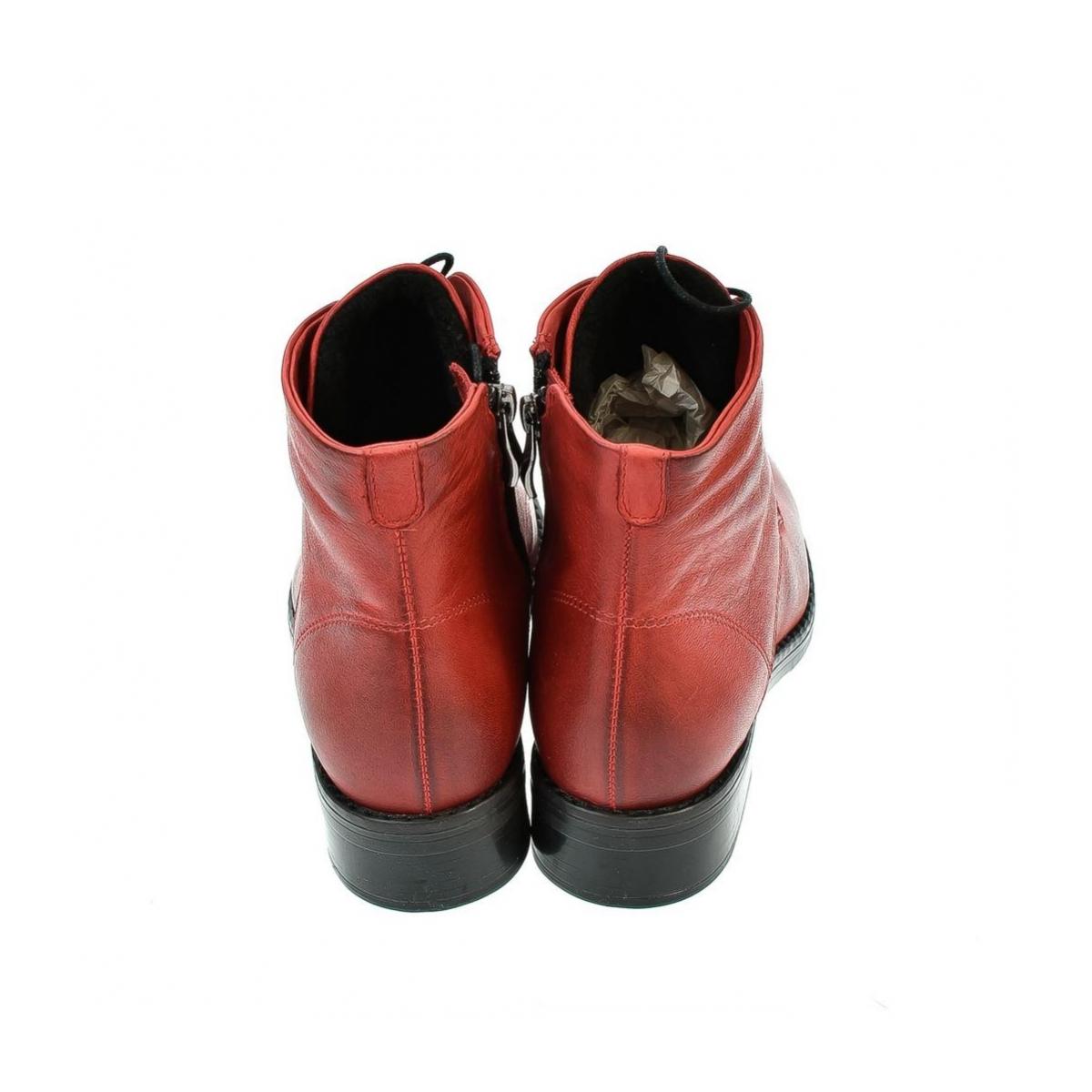 7c2c294b79c0 Dámske červené členkové kožené topánky MERICAN - 2