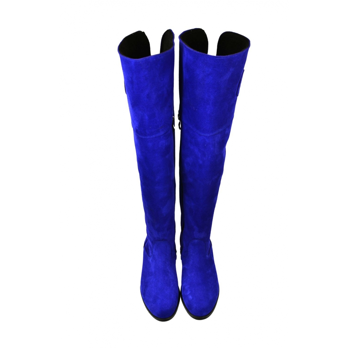 ed1db24a6d617 Dámske modré kožené čižmy LEOLA | Johnc.sk