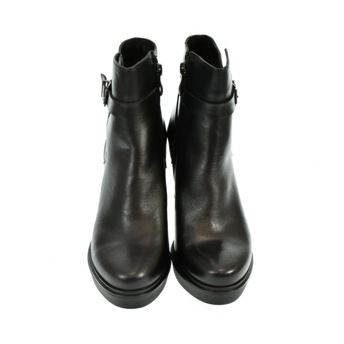 Dámske kožené čierne čižmy KIARA - 4 05a98df451d