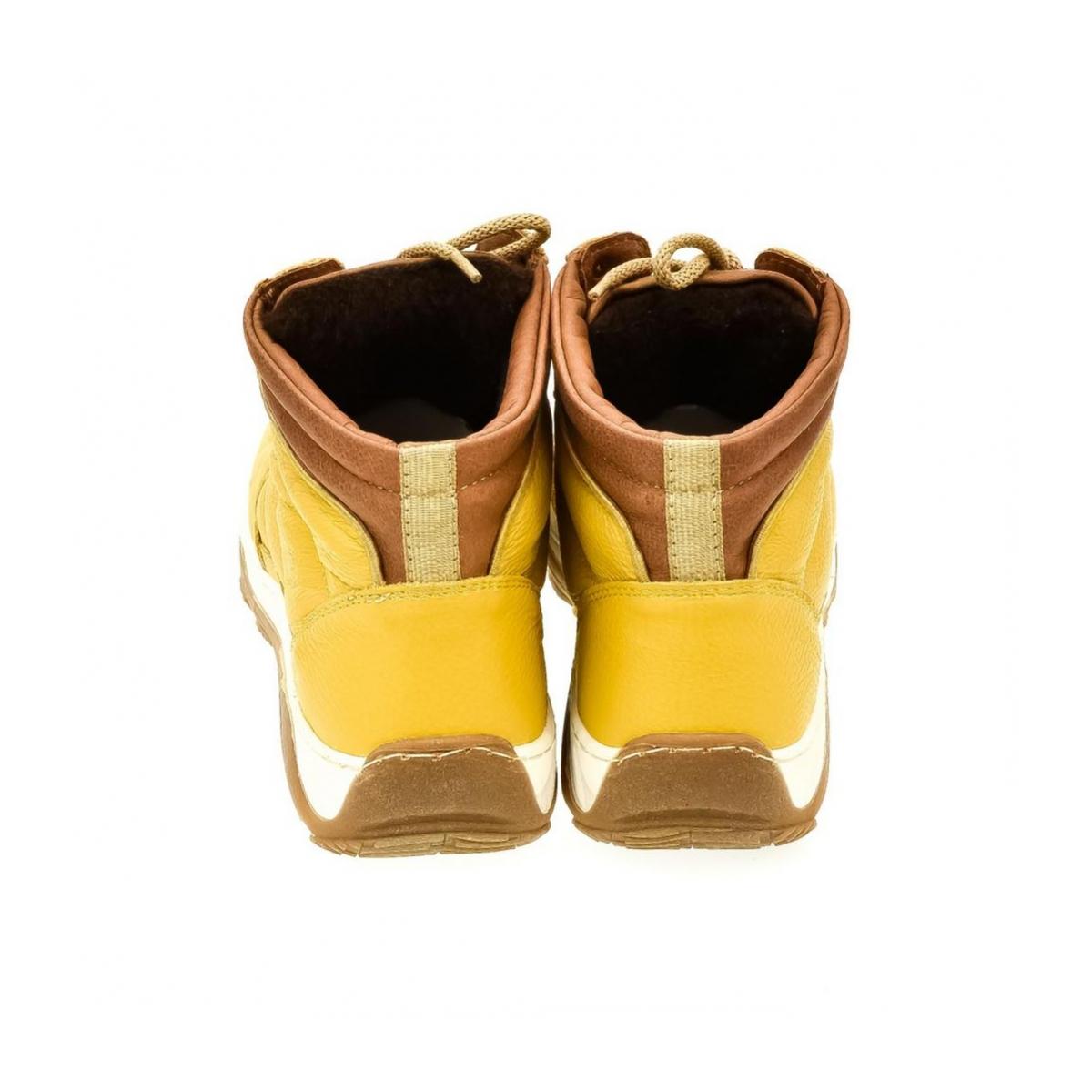 9a3796ba791c Pánske žlté kožené topánky CANO - 3